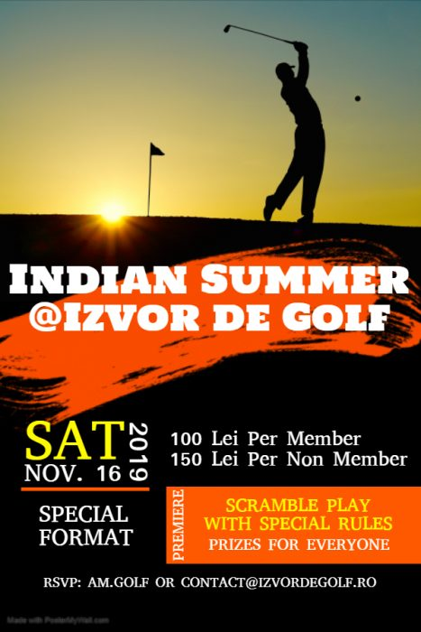 INDIAN SUMMER @IZVORDEGOLF